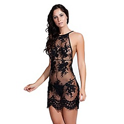 Bluebella - Black 'Julianna' lace chemise