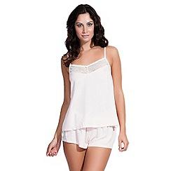 Bluebella - Pale pink 'Olivia' cami and shorts set