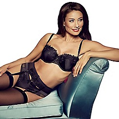 Adore Moi by Ultimo - Black 'Garland' balcony bra