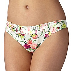 B by Ted Baker - Cream 'Flowers at High Tea' thong