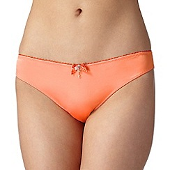 Floozie by Frost French - Orange two tone lace back brazilian briefs