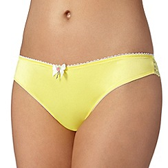 Floozie by Frost French - Pale yellow lace brazilian briefs