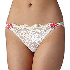 Floozie by Frost French - Yellow two tone daisy lace brazilian briefs