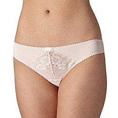J by Jasper Conran - Designer light pink lace front brazilian briefs