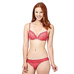 Iris & Edie - Red floral lace t-shirt bra
