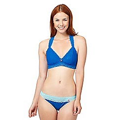 Iris & Edie - Blue floral lace non wired bra