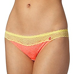 Iris & Edie - Yellow two tone lace hipster briefs
