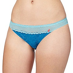 Iris & Edie - Light blue floral lace hipster briefs