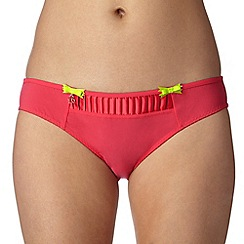 B by Ted Baker - Dark pink pleated hipster briefs