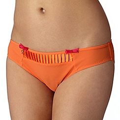 B by Ted Baker - Bright orange pleated hipster briefs