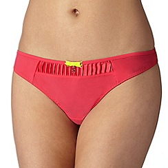 B by Ted Baker - Dark pink pleated thong