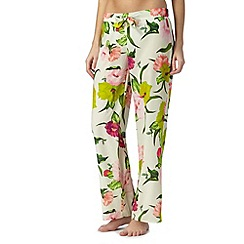 B by Ted Baker - Cream 'Flowers at High Tea' print trousers