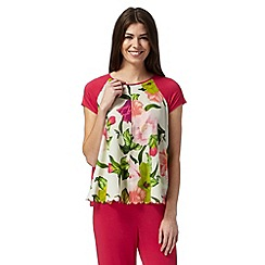 B by Ted Baker - Pink 'Flowers at High Tea' short sleeved top