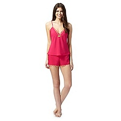 B by Ted Baker - Dark pink lace cami and shorts set