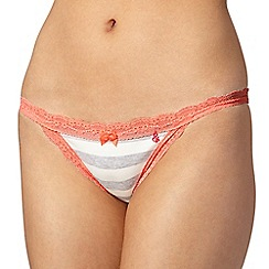 Iris & Edie - Grey striped tanga briefs