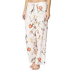 B by Ted Baker - Pale pink 'Botanical Bloom' pyjama bottoms