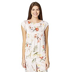 B by Ted Baker - Pale pink 'Botanical Bloom' short sleeved top