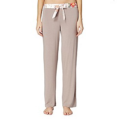 B by Ted Baker - Light brown 'Botanical Bloom' jersey pyjama bottoms