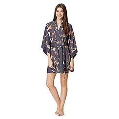 B by Ted Baker - Dark grey 'Botanical Bloom' kimono