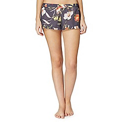 B by Ted Baker - Dark grey 'Botanical Bloom' shorts