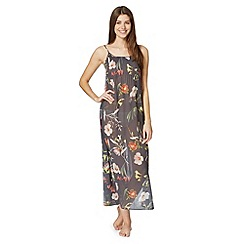 B by Ted Baker - Dark grey 'Botanical Bloom' long chemise