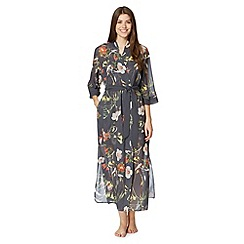 B by Ted Baker - Dark grey 'Botanical Bloom' long kimono