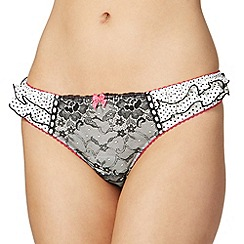 Floozie by Frost French - White polka dot lace thong