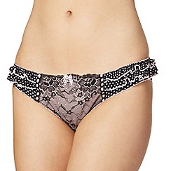 Floozie by Frost French - Black polka dot lace hipster briefs