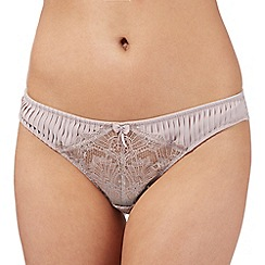 J by Jasper Conran - Designer taupe pleated and lace thong