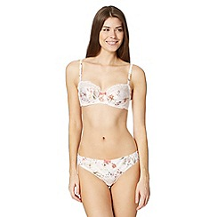 B by Ted Baker - Pale pink 'Botanical Bloom' demi cup bra