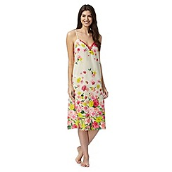 B by Ted Baker - Natural 'TB Flowers at High Tea' lace chemise