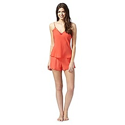B by Ted Baker - Bright orange lace cami and shorts set