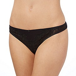 Reger by Janet Reger - Black oriental lace thong