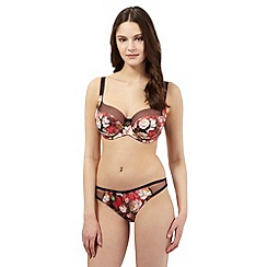 B by Ted Baker - Purple floral DD+ cup underwired bra