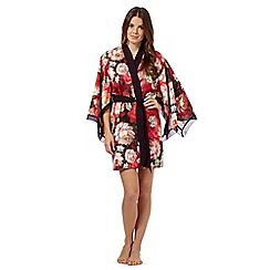 B by Ted Baker - Red rose print kimono