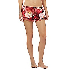 B by Ted Baker - Red rose print pyjama shorts