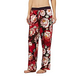 B by Ted Baker - Red rose print pyjama bottoms