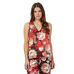 B by Ted Baker - Red rose print pyjama vest