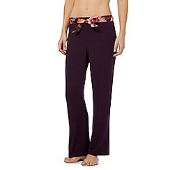 B by Ted Baker - Purple rose print jersey pyjama bottoms