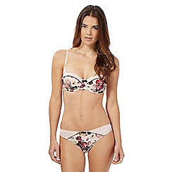 B by Ted Baker - Light pink floral print balcony bra
