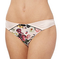 B by Ted Baker - Light pink floral print thong