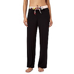 B by Ted Baker - Black painted floral waistband pyjama bottoms