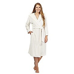 B by Ted Baker - Cream embossed fleece dressing gown