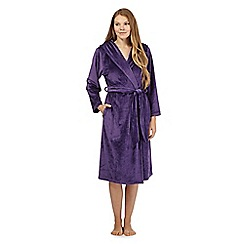 B by Ted Baker - Purple fleece dressing gown