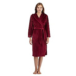B by Ted Baker - Maroon long velour dressing gown