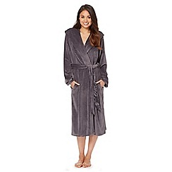 B by Ted Baker - Dark grey moleskin long dressing gown