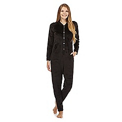 B by Ted Baker - Black embossed bow onesie
