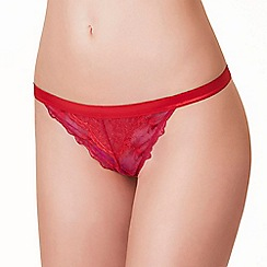 Passionata - Red 'Double Play' tanga briefs