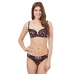 Floozie by Frost French - Black floral print demi padded pra
