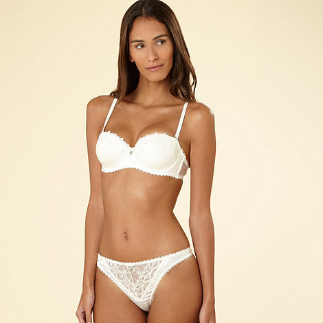 J by Jasper Conran - Ivory diamante and embroidered multiway  bra